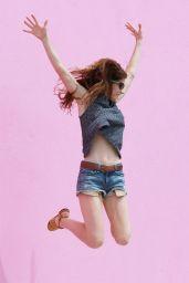 Jennifer Carpenter in Denim Shorts - Out in Hollywood - June 2014