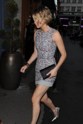 Jennifer Lawrence Flaunts Legs in Mini Dress - Dior After Party Held At Caviar Kaspia In Paris - July 2014