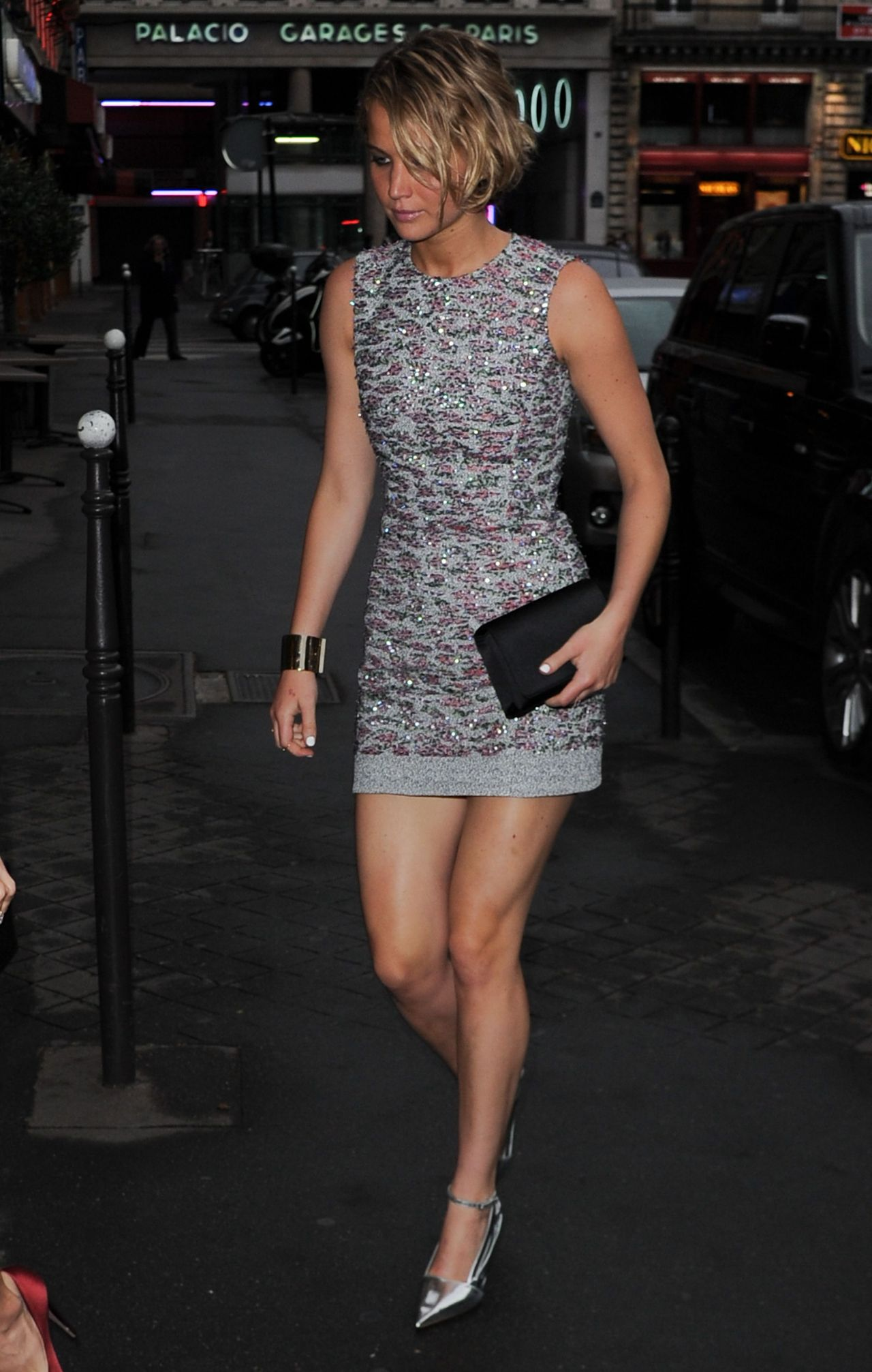 Lawrence Flaunts Legs in Mini Dress - Dior After Party Held At ...