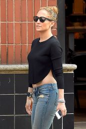 Jennifer Lopez Booty in Jeans - Out in New york City - June 2014