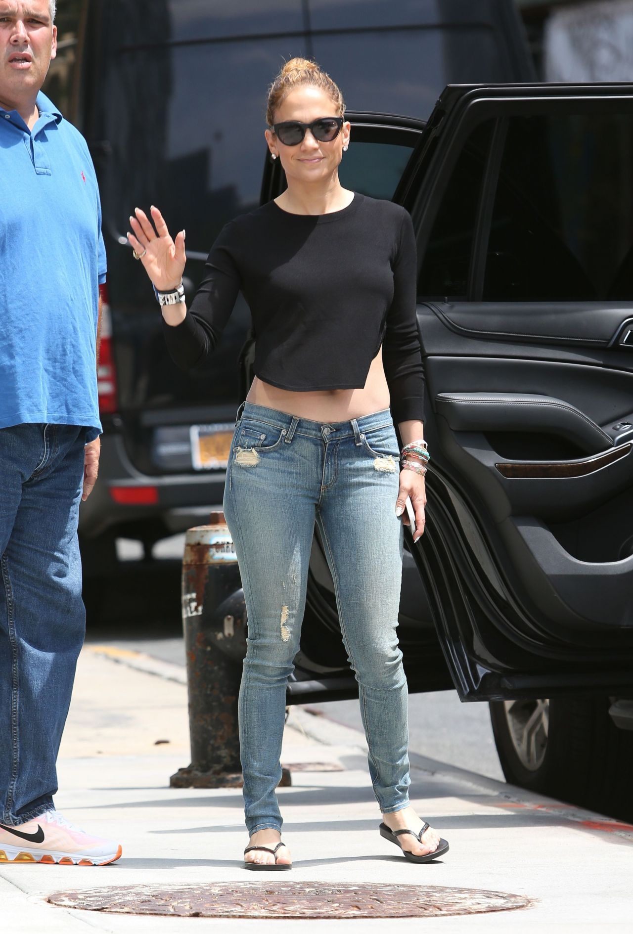 Jennifer Lopez Booty In Jeans Out In New York City