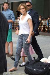 Jennifer Lopez Street Style - Leaving Her Hotel in NYC - July 2014