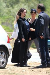 Jennifer Love Hewitt on the Set of