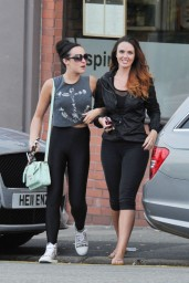 Jennifer Metcalfe & Stephanie Davis in Spandex – Out in Liverpool – July 2014
