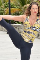 Jennifer Nicole Lee - Work Out in a Park in South Beach - June 2014