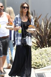 Jessica Alba in Maxi Dress - Out in LA, July 2014