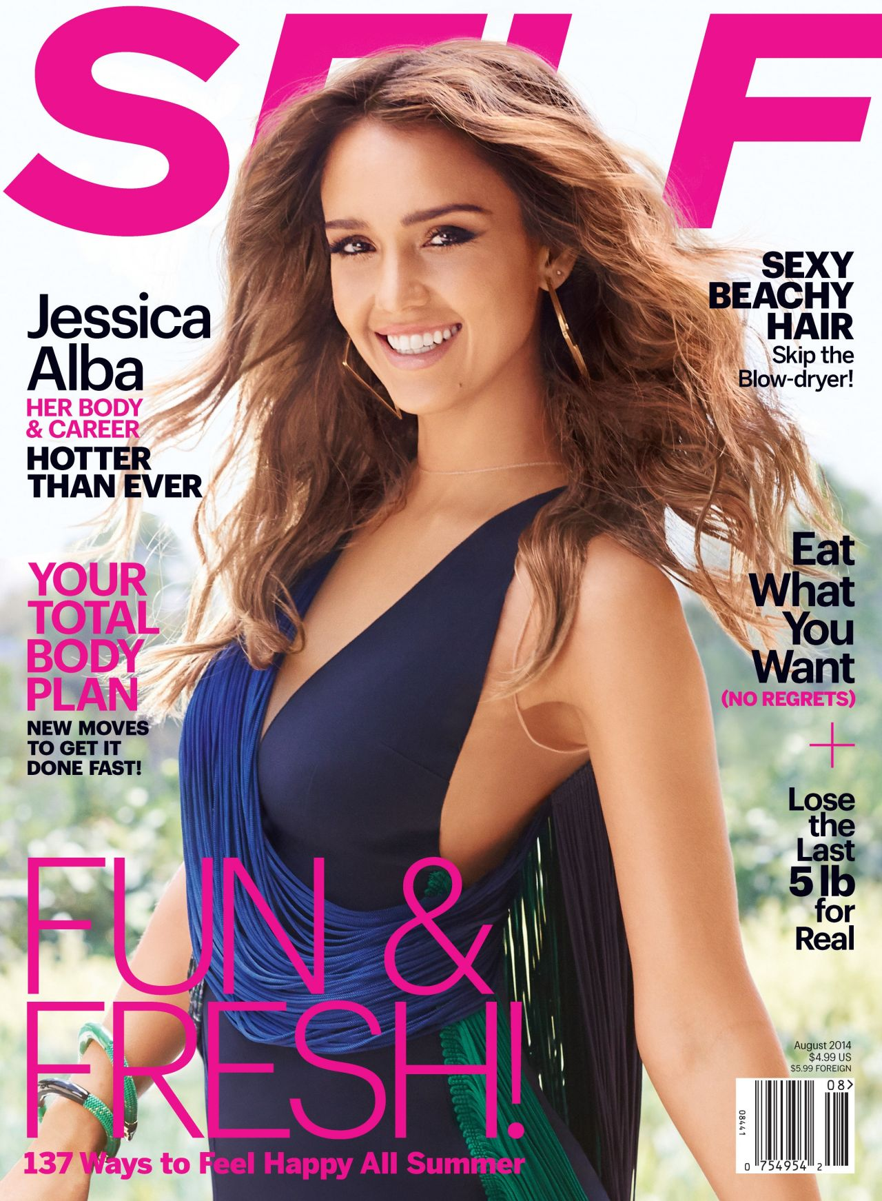 Jessica Alba - Self Magazine August 2014