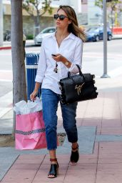 Jessica Alba Street Style 2014 - Out in Santa Monica
