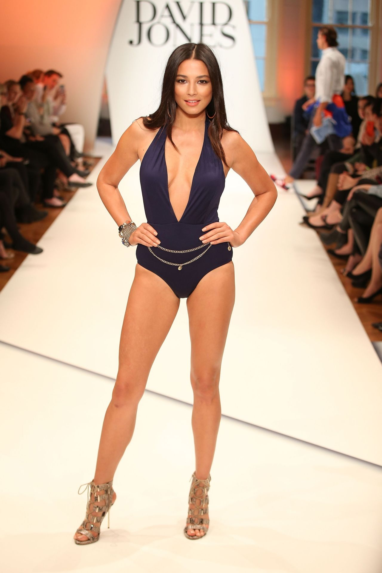 Jessica Gomes Fires Up The Catwalk - David Jones Spring/Summer 2014 Collection Launch