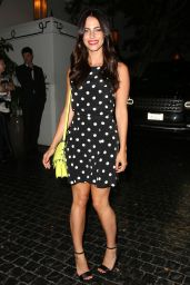 Jessica Lowndes Night out Style - at the Chateau Marmont in Los Angeles - July 2014