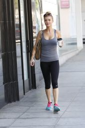 Joanna Krupa in Leggings - After a Workout in Beverly Hills - July 2014