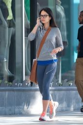 Jordana Brewster in Leggings - Out in Los Angeles - July 2014
