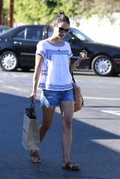 Jordana Brewster Street Style - Shopping in Brentwood - July 2014