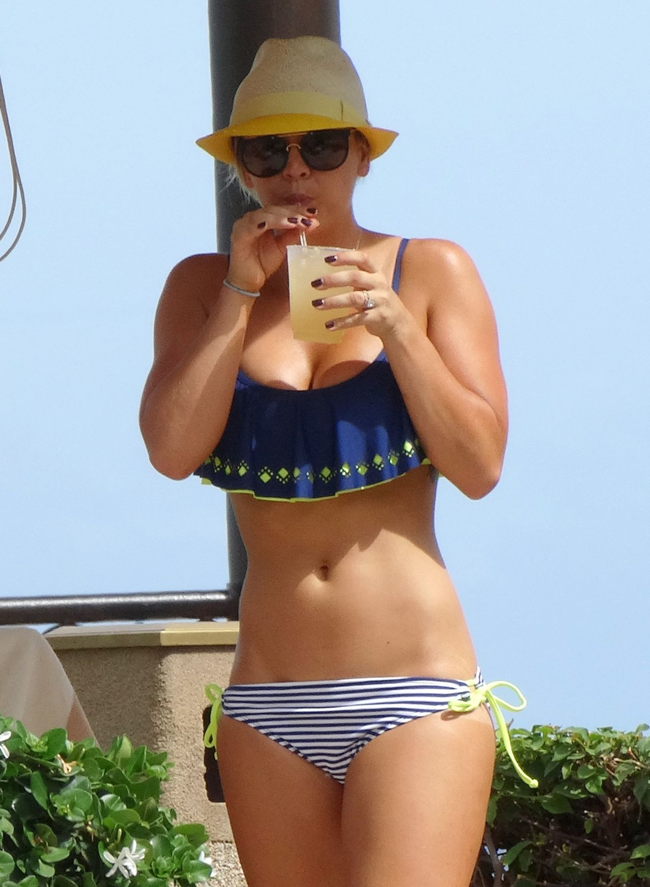 Kaley Cuoco Bikini Candids - at a Pool in Mexico, July 2014