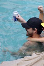 Kaley Cuoco Bikini Candids - at a Pool in Mexico, July 2014