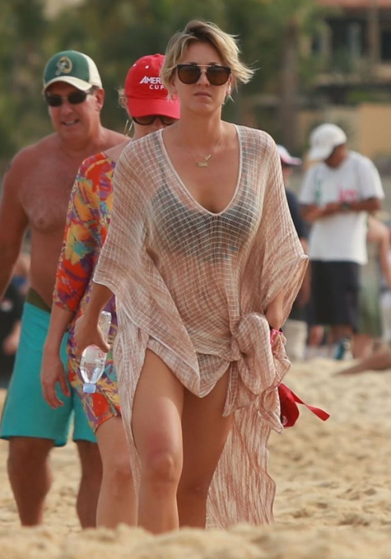 Kaley Cuoco On The Beach In Cabo - July 2014-5953