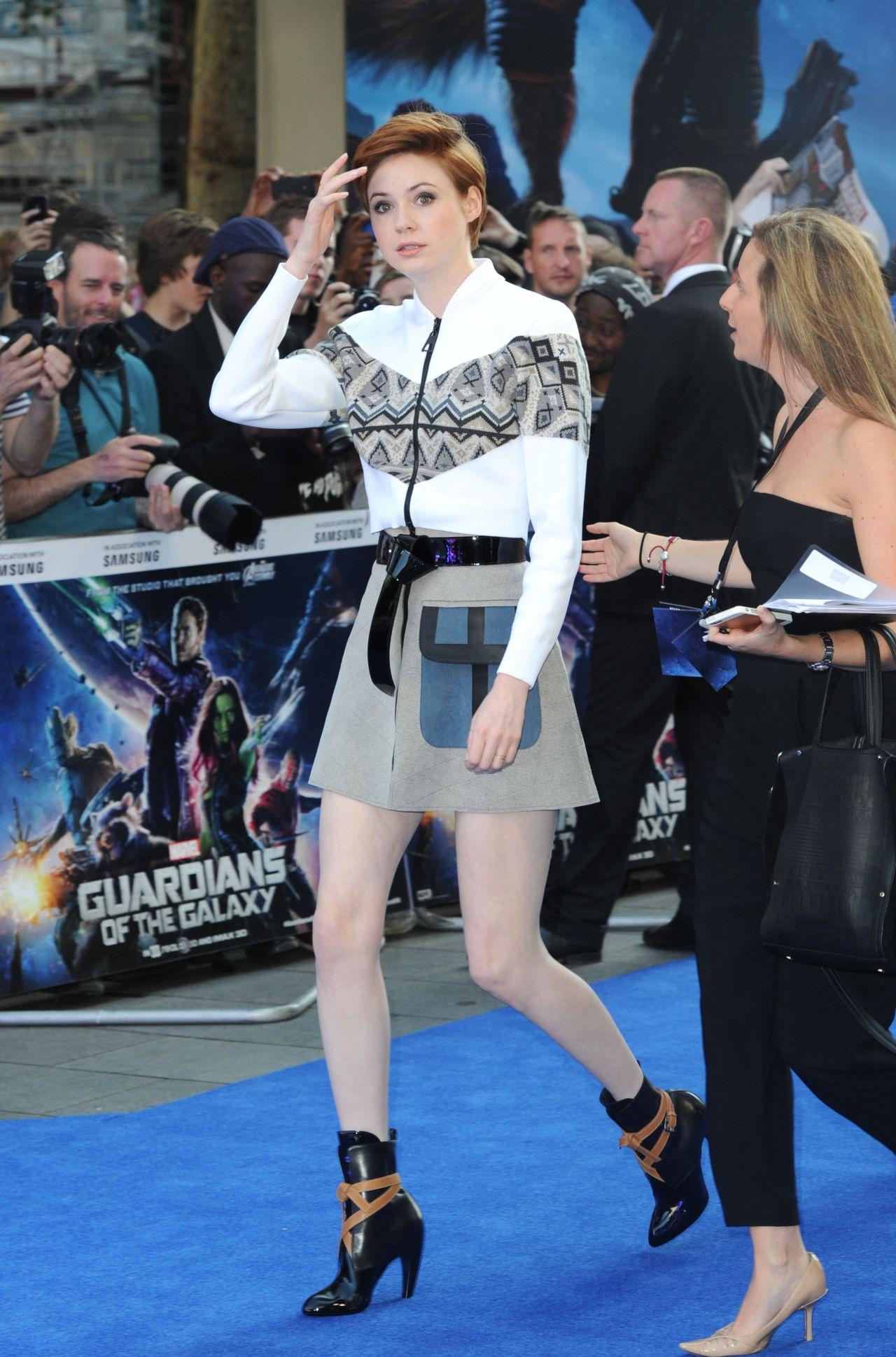 Karen Gillan Guardians Of The Galaxy Premiere In London