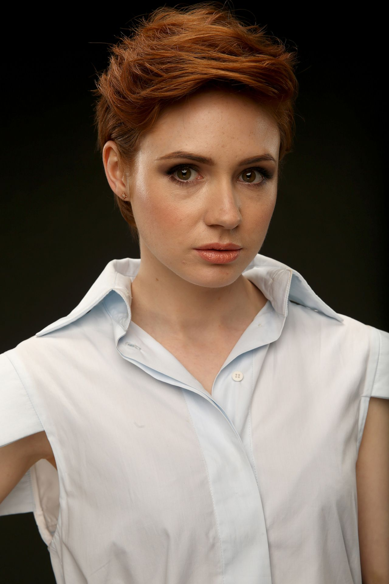 Karen gillan as an air hostess