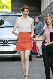 Karen Gillan Shows Off Her Legs - Leaving ITV Studios in London - July 2014