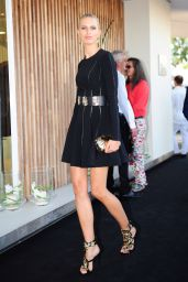 Karolina Kurkova in Mini Dress at Giuseppe Zanotti Store Opening in Ibiza