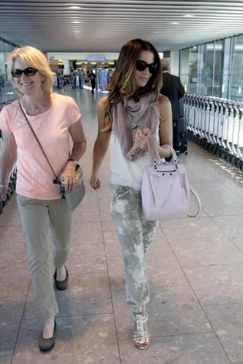Kate Beckinsale at Heathrow Airport in London - July 2014