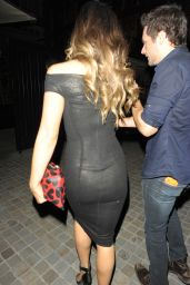 Kate Beckinsale Night Out Style – at The Chiltern Firehouse in London – July 2014