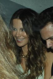 Kate Beckinsale Night Out Style - Chiltern Firehouse in London - July 2014