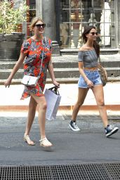 Kate Upton & Lily Aldridge - Shopping in SoHo in New York City -  July 2014