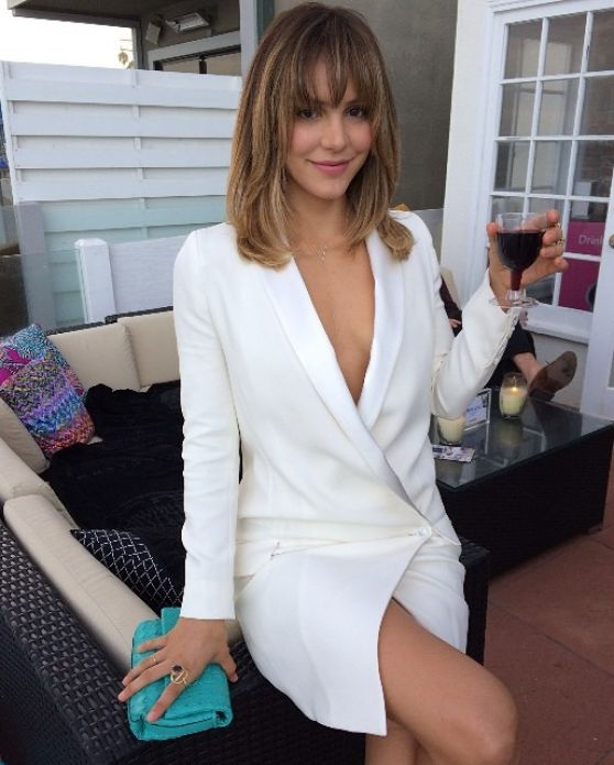 Katharine McPhee at Just Jared event in Malibu - July 2014