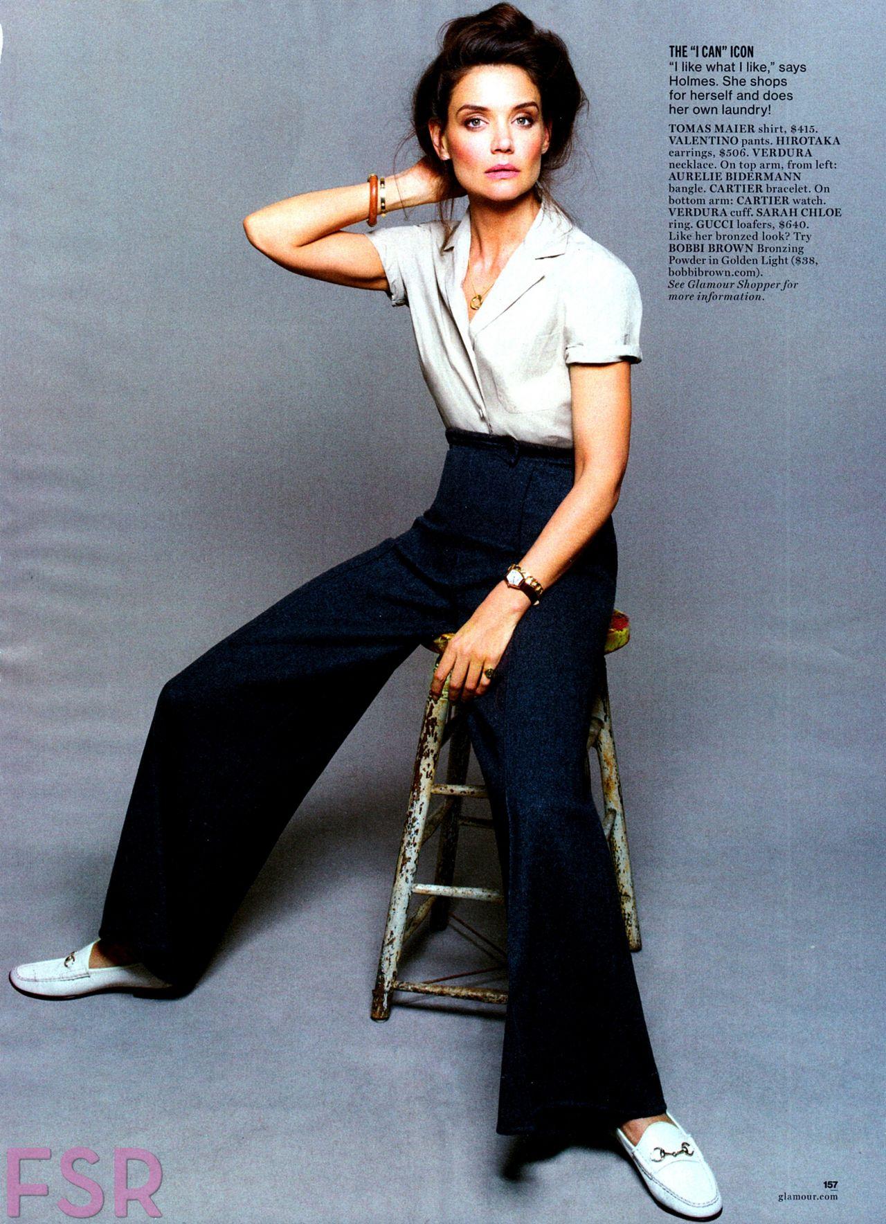 katie holmes glamour magazine august 2014 issue