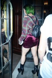 Katy Perry Displays Her Long Legs in Mini Skirt  - Out in New York City - July 2014