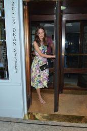 Keira Knightley - Leaving Quo Vadis Restaurant in London - July 2014