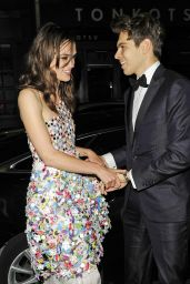 Keira Knightley Night Out Style - Groucho Club in London - July 2014