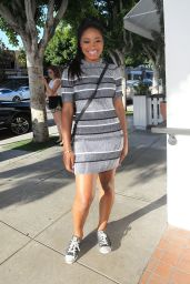 Keke Palmer at FIG & OLIVE Restaurant in Los Angeles - July 2014