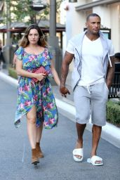 Kelly Brook and Her Boyfriend - Out in Los Angeles - June 2014