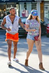 Kelly Brook Hot in Mini Shorts - Out in West Hollywood - July 2014