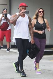 Kelly Brook in Leggings Leaving the Gym in West Hollywood - July 2014