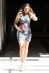Kelly Brook in Mini Dress - Out in Los Angeles - July 2014