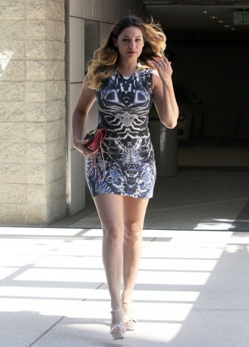 kelly brook in mini dress out in los angeles july 2014