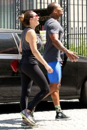 Kelly Brook in Tights at a Gym in West Hollywood - July 2014