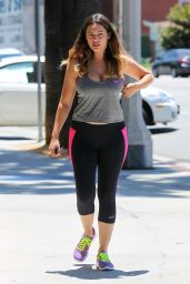 Kelly Brook in Tights - Heading to the Gym in LA - July 2014