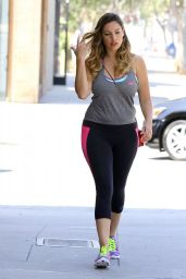 Kelly Brook in Tights Heads to the Gym in West Hollywood - July 2014