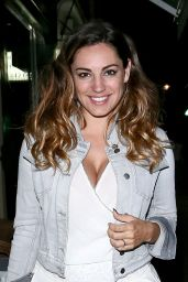 Kelly Brook Night Out Style - Thali Restaurant in London - June 2014