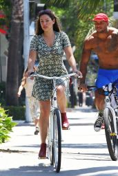 Kelly Brook Riding a Bike in Beverly Hills - July 2014