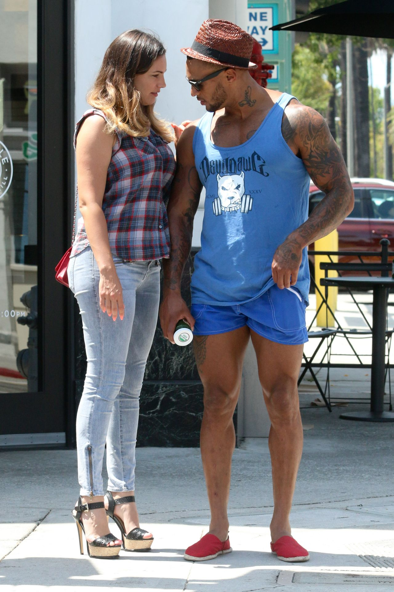 Kelly Brook With Her Boyfriend Shopping In La July 2014