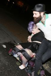 Kelly Osbourne and Ricki Hall - Leaving a Restaurant in London - July 2014