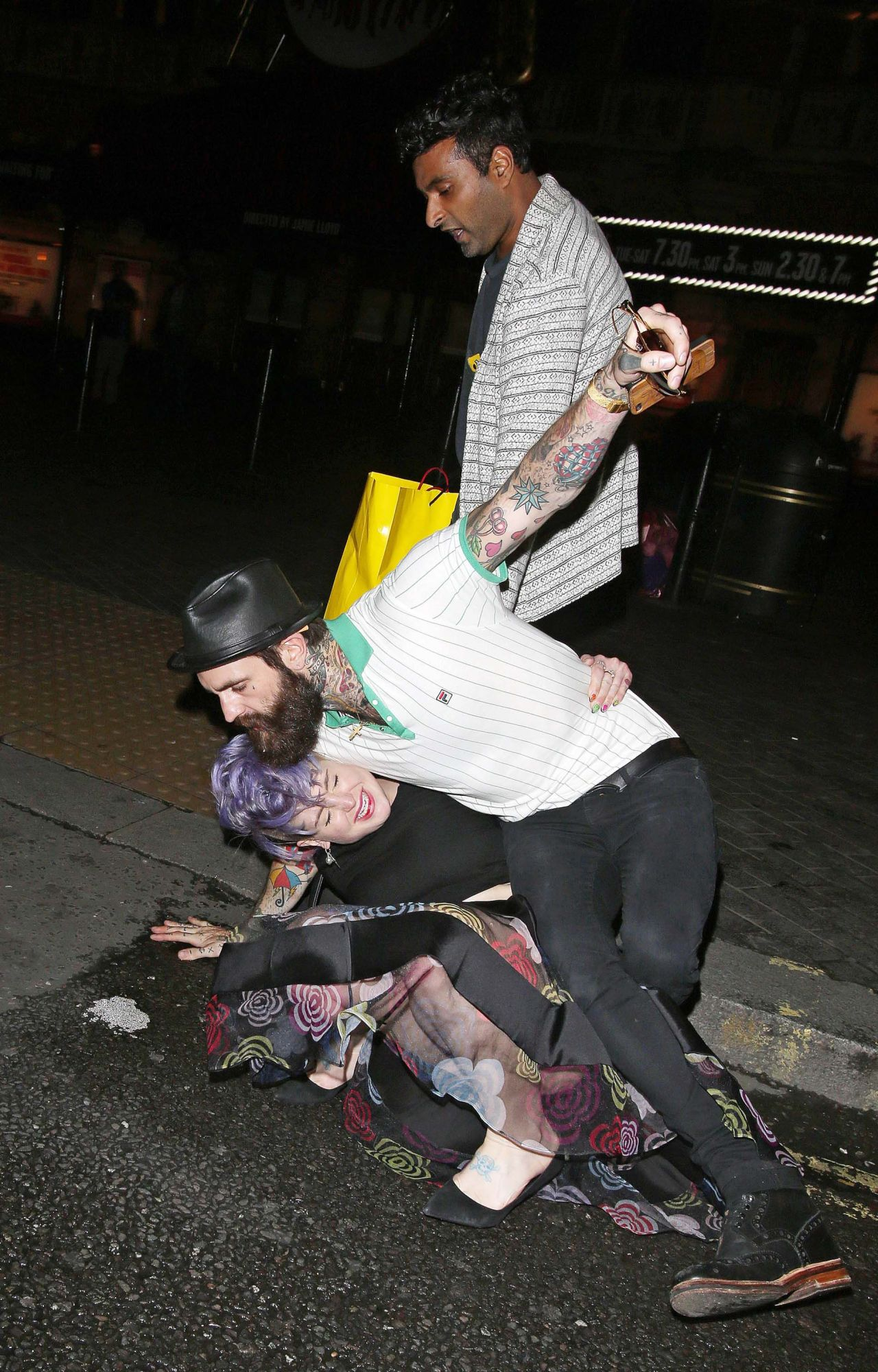 Kelly Osbourne And Ricki Hall Leaving A Restaurant In