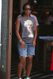Kelly Rowland Street Style - Leaving Cecconi's Restaurant in West Hollywood - July 2014
