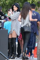 Kendall and Kylie Jenner - Chris Brown & Quincy Kick
