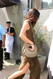 Kendall Jenner in Eleven Paris Maxi Dress - Leaving Joan